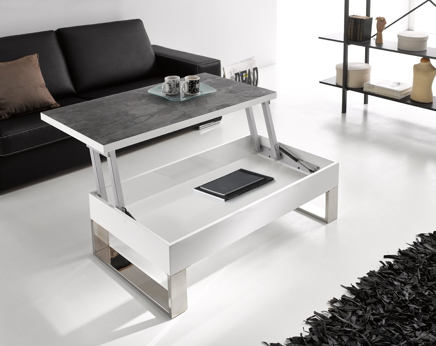 Comprar mesas de centro blancas for Mesas de salon de cristal