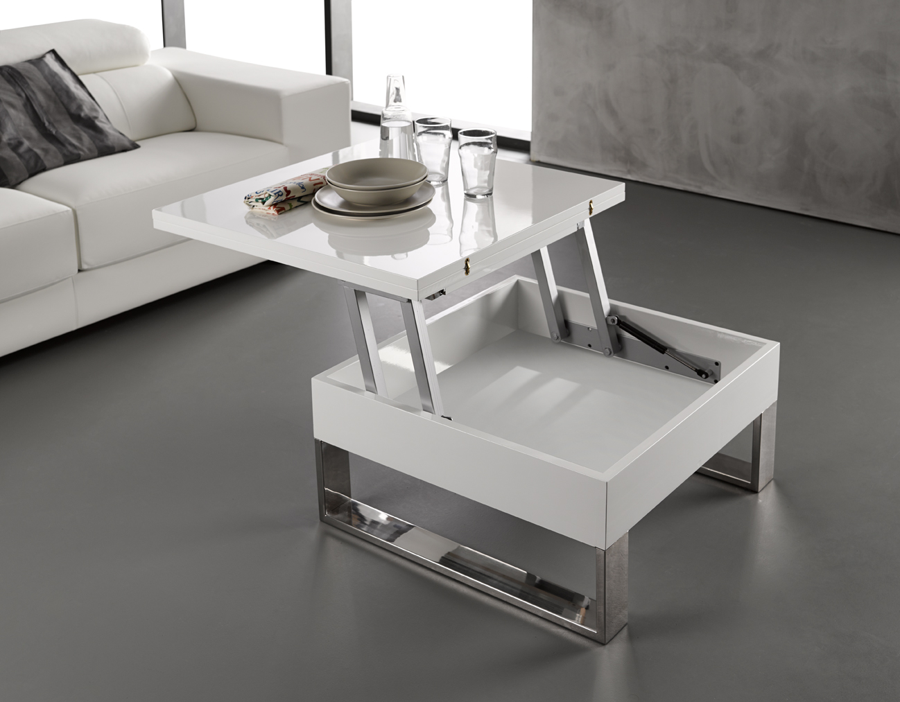 Model etable salon moderne for Table de salon contemporaine