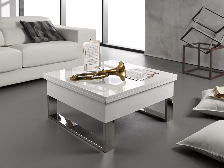 Mesa de centro blanca online la mesa de centro tienda - Table basse relevable blanche ...