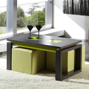 707018 - mesas de centro de cristal y acero -LAMESADECENTRO