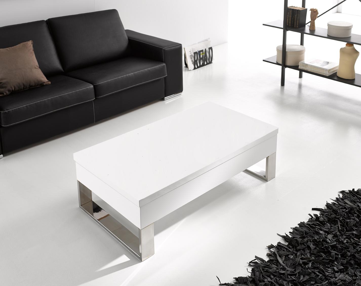 Comprar mesas de centro blancas - Mesas de centro elevables y extensibles ...