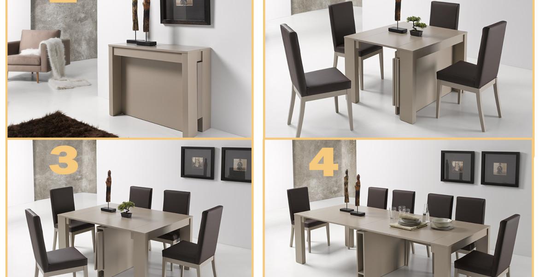 Revoluciona tu sal n con una mesa consola extensible - Centros de mesa para salon comedor ...