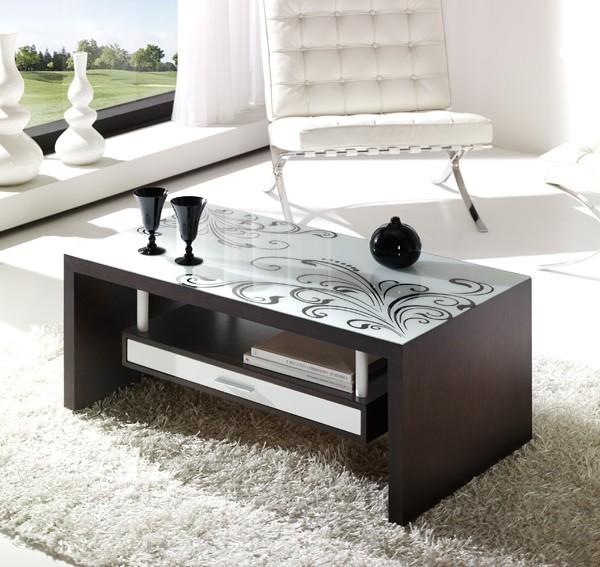 Mesas de centro con cristal impreso la mesa de centro - Mesas de centro de cristal modernas ...