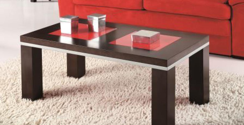 Mesas de centro rojas decoraci n de salones la mesa de - Centro de mesa para salon ...